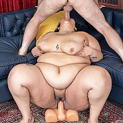 Horny BBW Enjoys A Real Dick And Toy with Crystal Blue