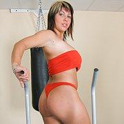 Hard Exercise At Gym with Kora Kryk