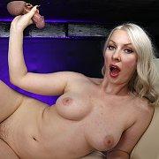 Blonde Babe Gets Sprayed With Cum with Sydney Paige
